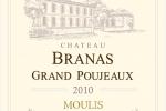 Château Branas Grand Poujeaux - Etiquette Millésime 2010