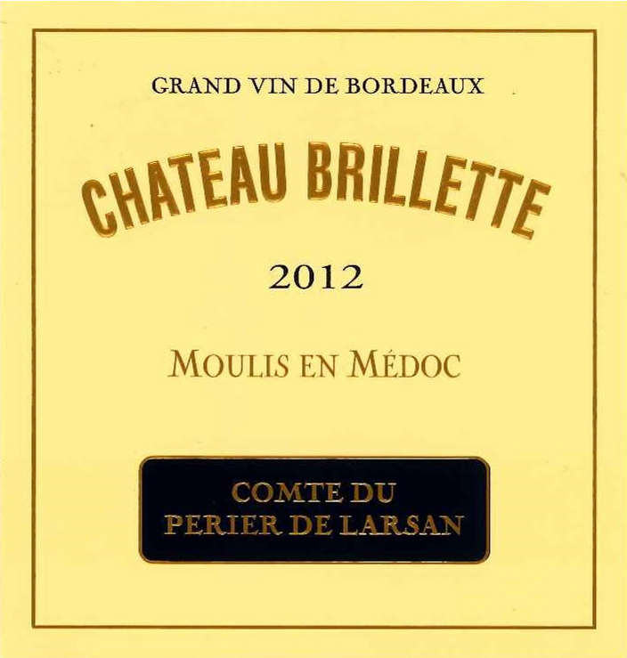 Château Brillette - Etiquette (2012)