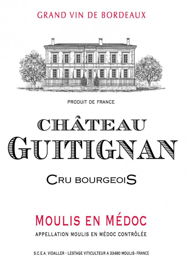 Chateau Guitignan - Etiquette BIS