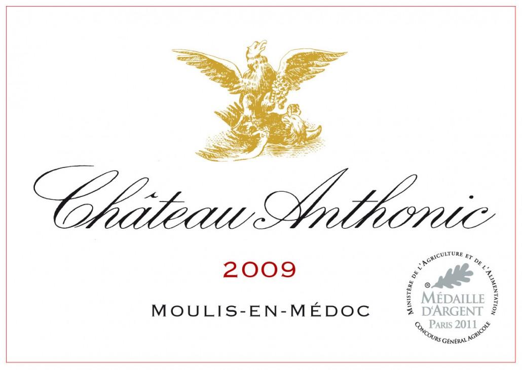 Château Anthonic - Etiquette (2009)