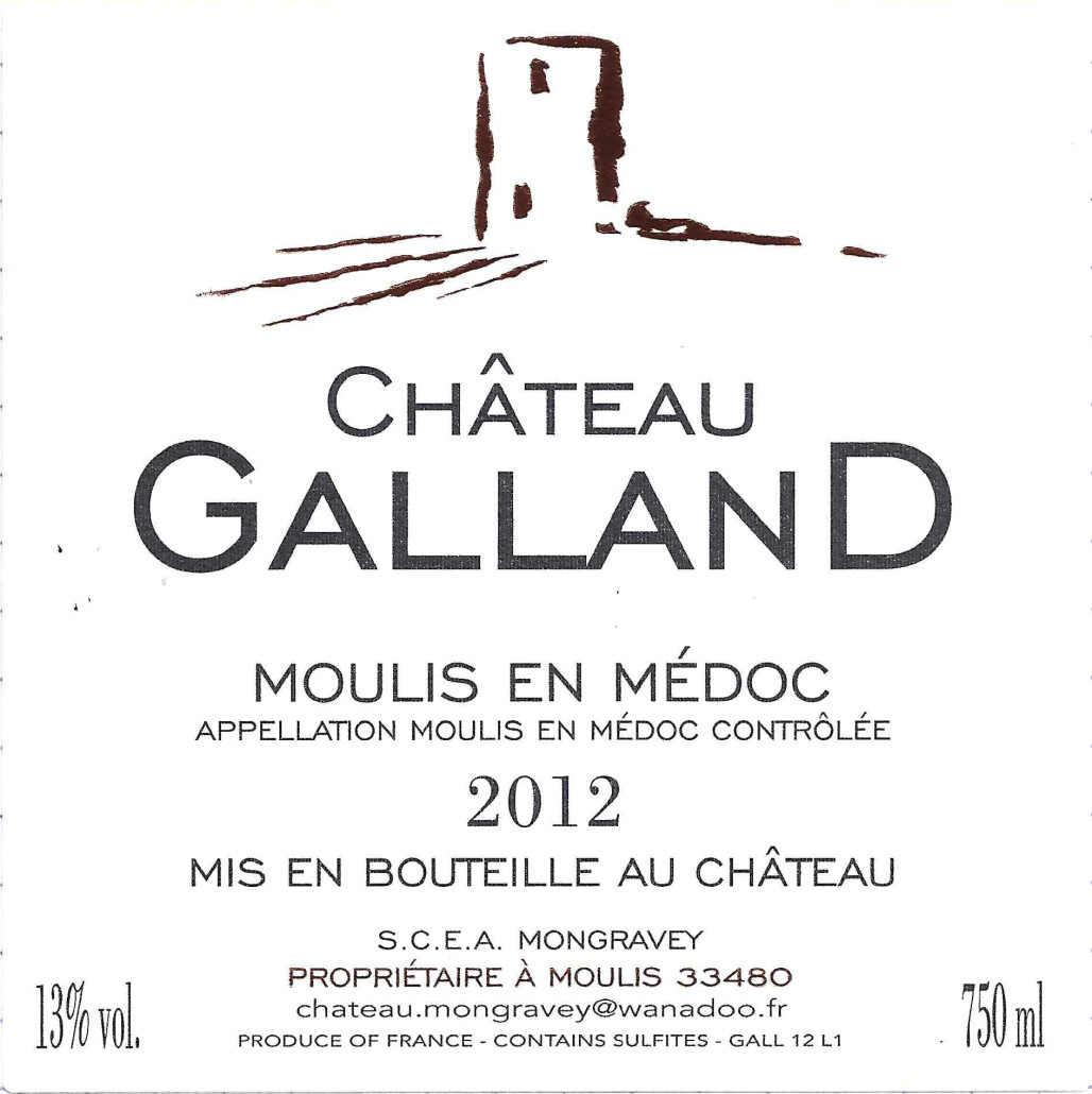 Chateau Galland - Etiquette 2012